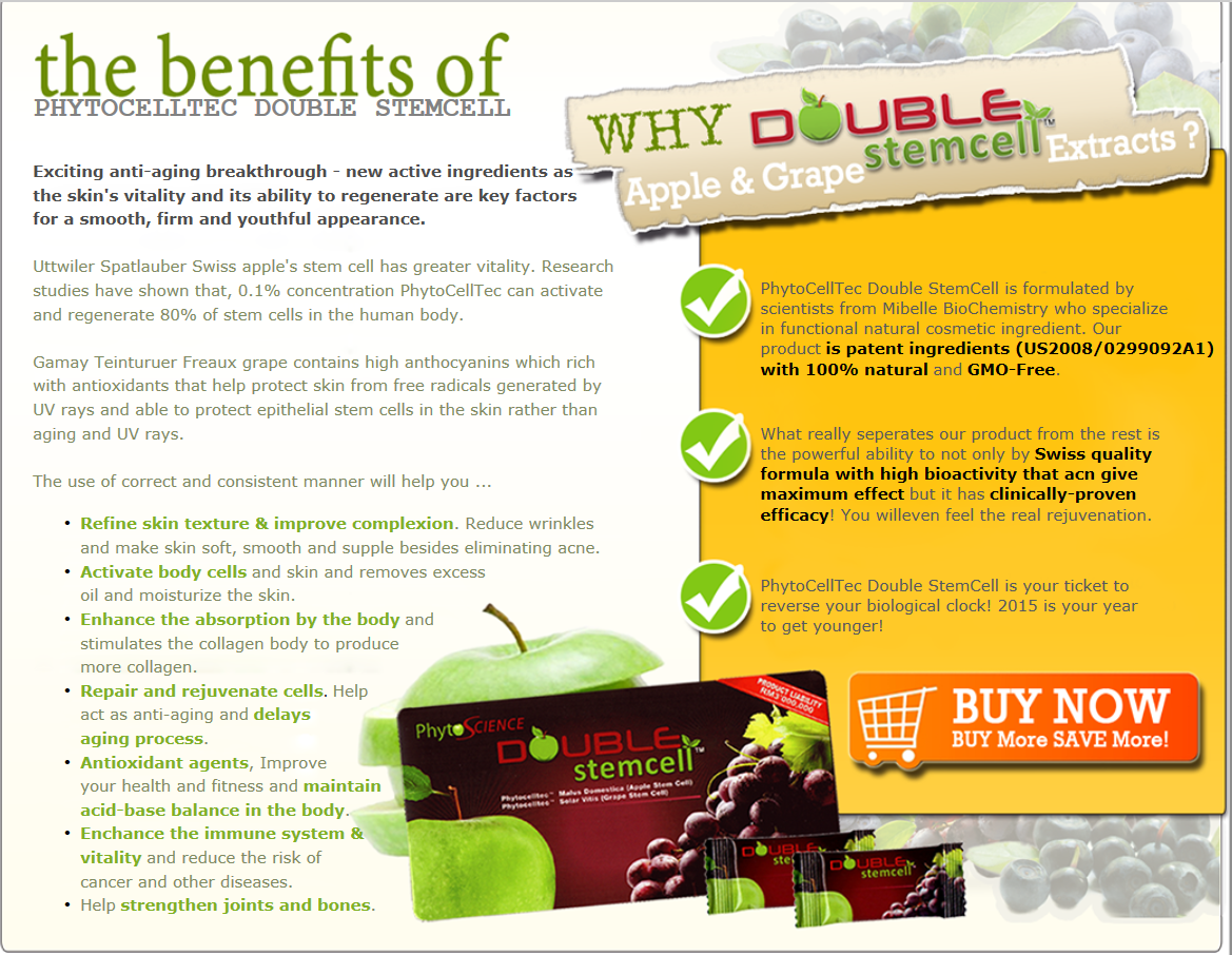 phytoscience double stemcell - benefits